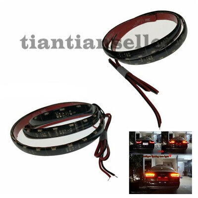 12V Tail Light Soft Flexible Flowing Turn Signal Strip Light Lamp Side glowing