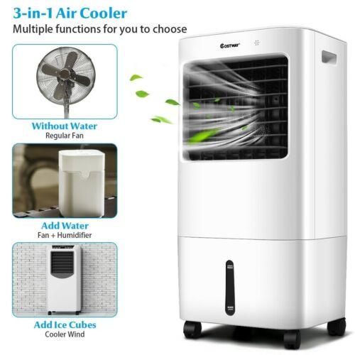 Evaporative Portable Air Conditioner Cooler Fan Indoor Room with Remote Control