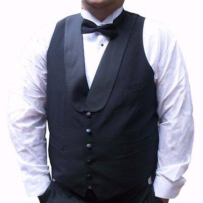 Mens Black Tuxedo Vest with Satin Shawl (Satin Shawl Vest)