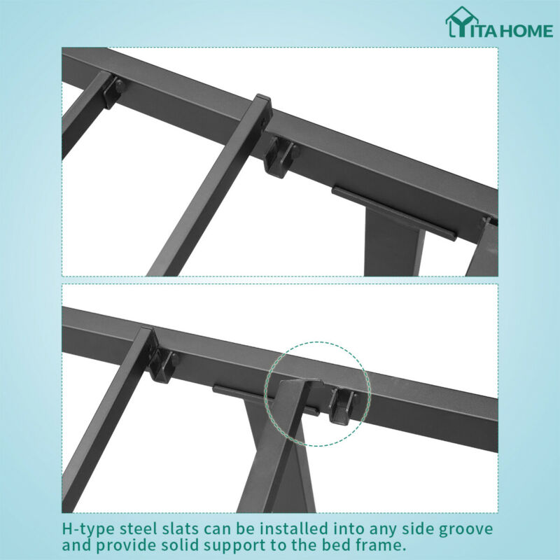 """YITAHOME Queen Metal Bed Frame with Headboard Platform No 14"""""""