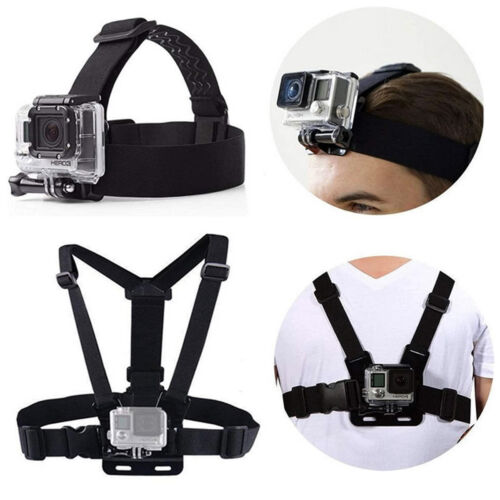 Harness Head + Chest Strap Mount Accessories For GoPro Hero 3 4 5 6 7 8 Max 9