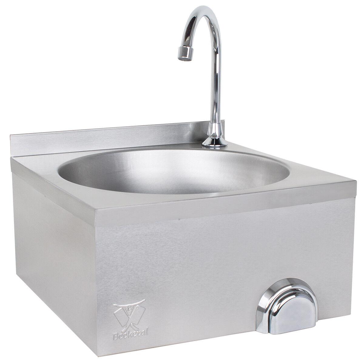 Beeketal Gastro Edelstahl Handwaschbecken Waschtisch Waschbecken Kniebetätigung