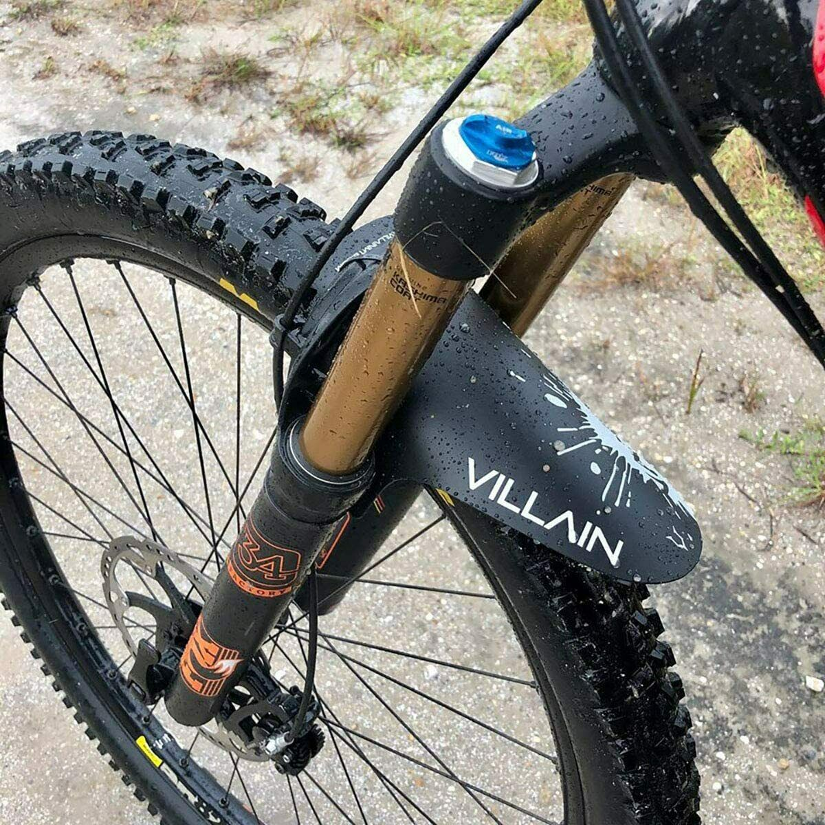 Villain Vandal Mudguard, Mountain Bike Front And Rear Bicycle Fender In Black - $19.99