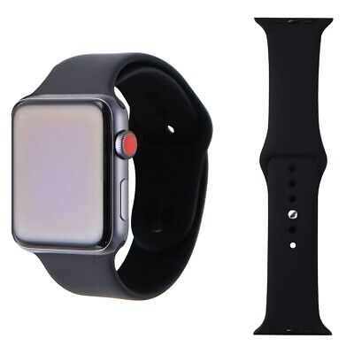 Apple Watch Series 3 Space Gray 42mm A1861 (GPS + Cellular) Black Sport Band
