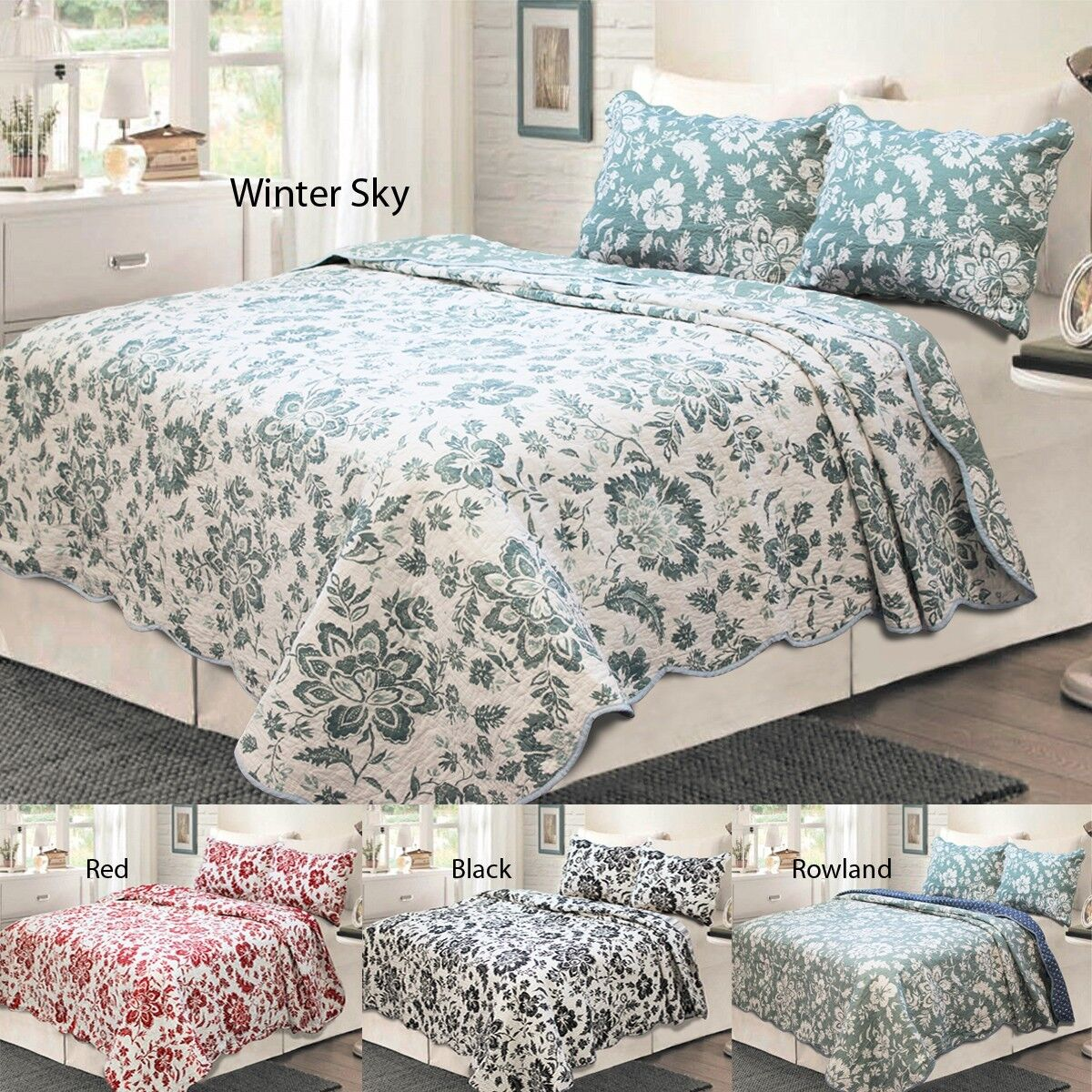 Madison Park 100% Cotton 3-Piece Quilt Set, Bedspread, Cover