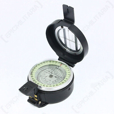 BRITISH LENSATIC METAL COMPASS - Hiking Military Camping Navigation Orienteering