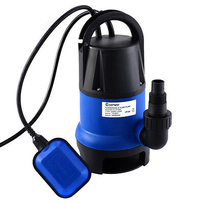 12hp 2000gph Submersible Dirty Clean Water Pump Flooding Pond Swimming Pool
