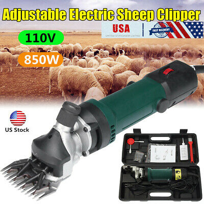 Us Electric Shears Shearing Clipper Sheep Machine Animal Goat Pet Farm 850w 110v
