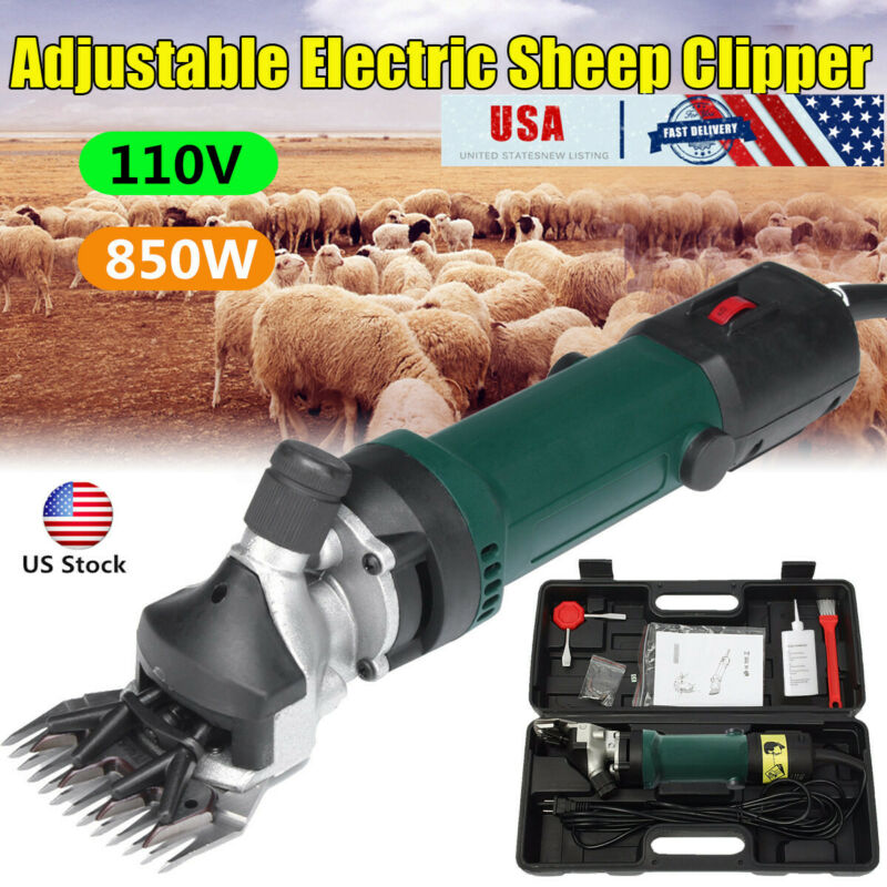 US Electric Shears Shearing Clipper Sheep Machine Animal Goat Pet Farm 850W 110V