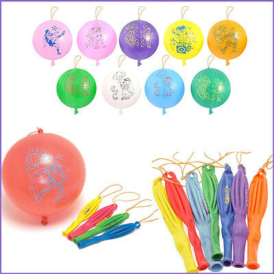 8 Large Punch Balloons Kids Bouncy Fun Play Balls BIRTHDAY Party Loot Bag Filler