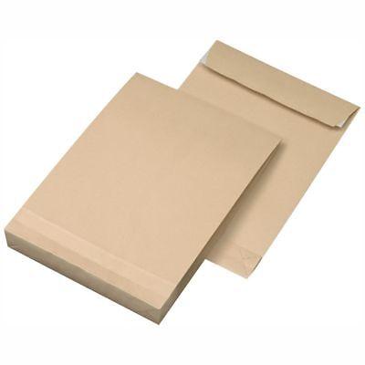 Tasche Falten (MAILMEDIA Faltentasche C4 40mm 120g haftklebend braun 100 Stück)