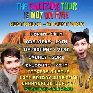 SELLING - 2 x GOLD TATINOF DAN AND PHIL SYDNEY TICKETS - SOLD OUT Kurmond Hawkesbury Area Preview