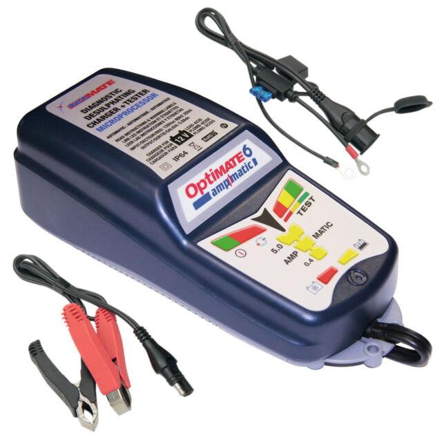 Optimate 6 Ampmatic SAE 12v 5 amp Motorcycle Van Car Battery Charger Optimiser