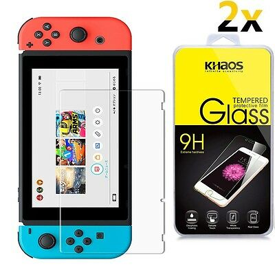 [2-Pack] KHAOS Ballistic Glass Screen Protector For Nintendo Switch