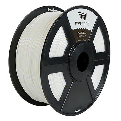 Wyzwork 3d Printer Premium Pla Filament 1.75mm 1kg2.2lb - White
