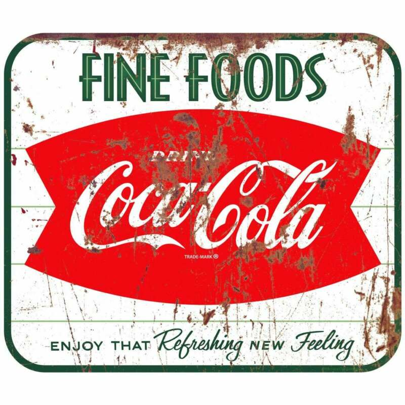 Coca-Cola Fine Foods Fishtail Decal Distressed Peel & Stick Wall Graphic