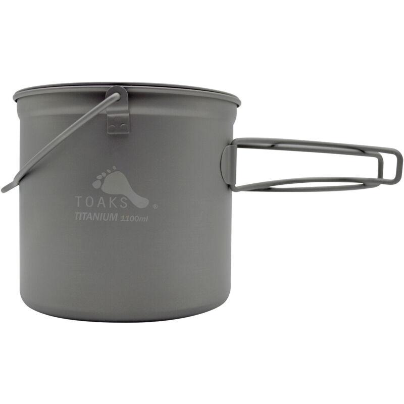 TOAKS Titanium 1100ml Pot with Bail Handle POT-1100-BH Outdoor Camping Cup Bowl