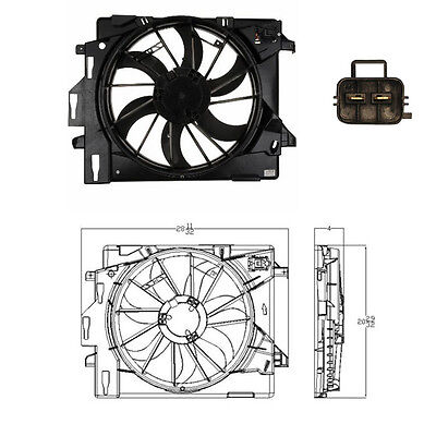 Dual Rad  Cond Fan Assembly Fits 2008   2015 Chrysler Town  Country All V6