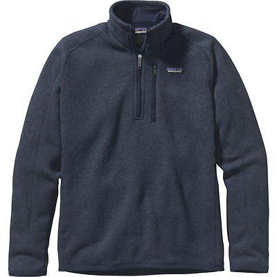 Patagonia Mens Better Sweater 1/4 Zip Pullover Navy Medium - New, Free Ship!