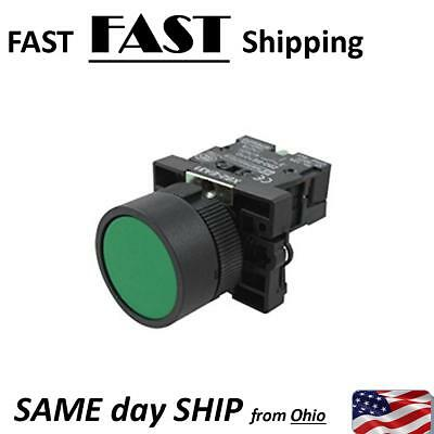 Industrial Control Momentary Push Button Switch Green - 600v 10 Amp Max - 10a