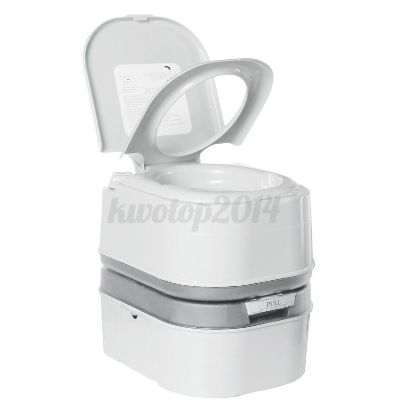 Portable Toilet 6.3 Gallon 24L Flush Travel Camping Outdoor Indoor Commode Potty