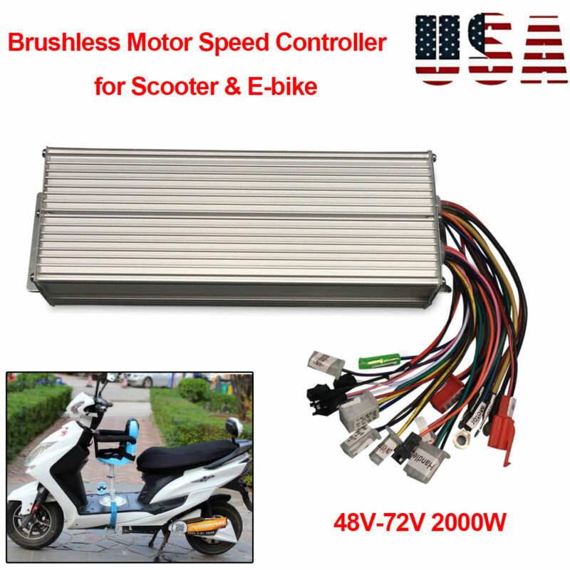 DC 48-72V 2000W E-bike Scooter Brushless Electric Bicycle Motor Speed Controller