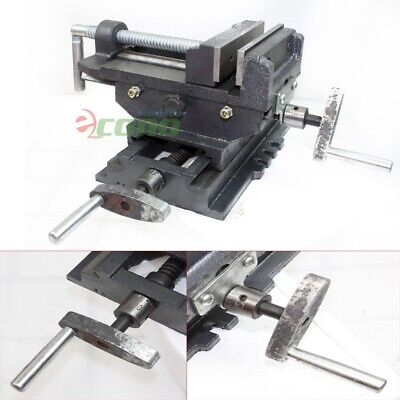 5 Jaw 2 Way Cross Slide Drill Press Vise X-y Clamp 4 Machine Metal Milling