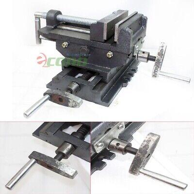 5 Jaw 2 Way Cross Slide Drill Press Vise X-y Clamp 4 Machine Metal Milling