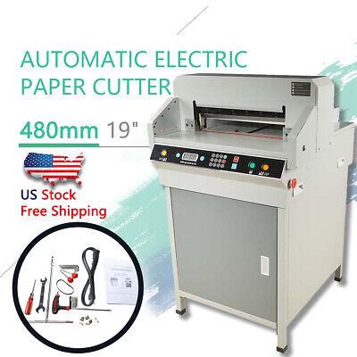 19 Electric Automatic Paper Cutter 480mm Cutting Machine Heavy Duty Us Ship