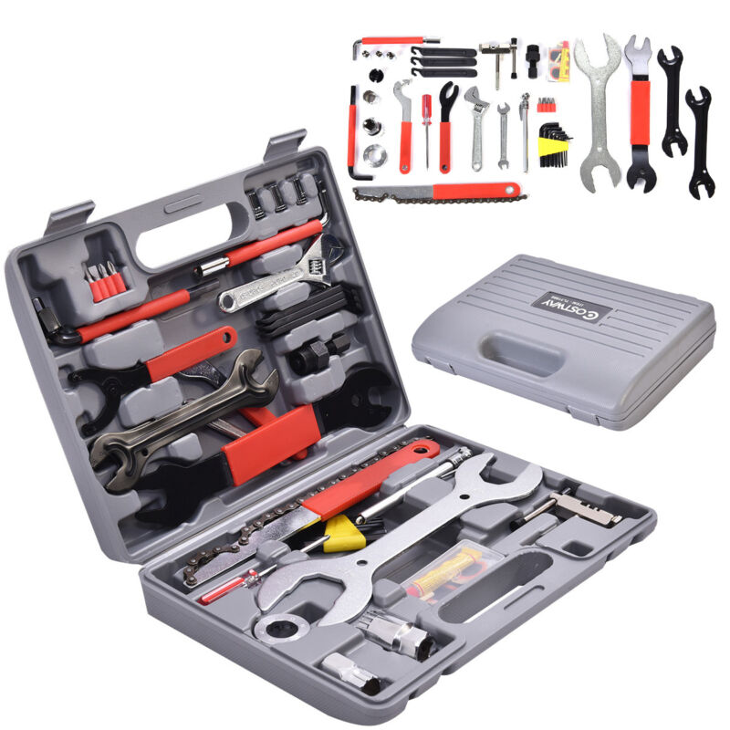 44 PC Multi-Function Bike Bicycle Home Mechanic Tool Repair Kit Set Box
