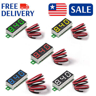 5pcs Mini Dc 2.5v-30v Led Panel Voltmeter 3-digital Display Voltage Meter