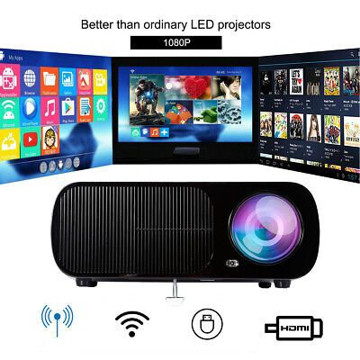 4K 1080P Android WIFI Projektor Bluetooth LED 3D Heimkino Beamer Multimedia se