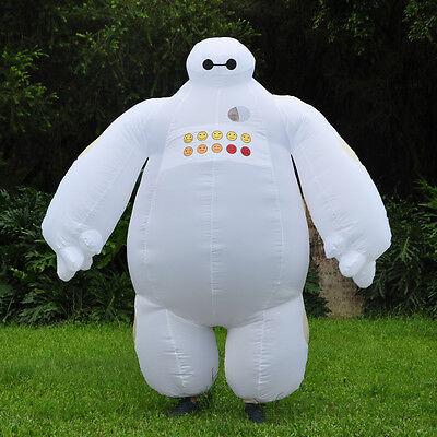 Halloween Big Hero 6 Inflatable Baymax Mascot Costumes Blow Up Fancy Dress Adult