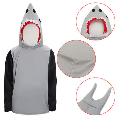 Halloween Prop Shark Attack Costume Animal Unisex Jaw Fish Dress Clothes Adult - Shark Attack Costume