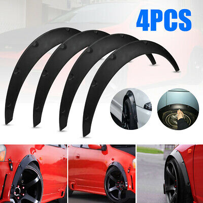 FIT FOR UNIVERSAL CAR TIRES FENDER FLARES OVER WIDE BODY WHEEL ARCHES FLEXIBLE
