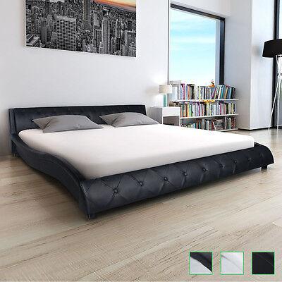 Polsterbett Doppelbett Ehebett Kunstleder Bettgestell Lattenrost 140/180x200 cm