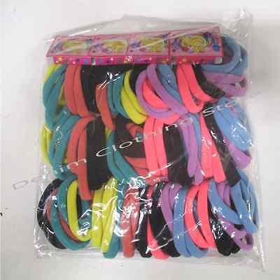 96pcs Rubber Elastic Hair Rope Band Scrunchie Ponytail Holder up Wholesale Lots (Wholesale Scrunchies)