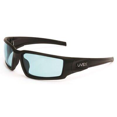 Uvex Hypershock Safety Glasses With Blue Anti-fog Lens Black Frame