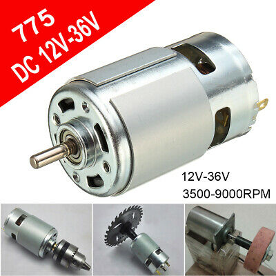 12-36v Dc 775 Motor 3500-9000rpm Ball Bearing Large Torque High Power Low Noise