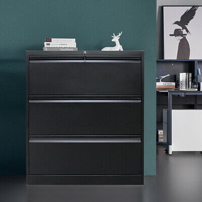 Metal Lateral File Cabinet Office Lateral File Storage Cabinet W3drawers Lock