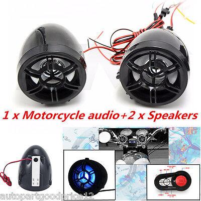 Motorcycle Bluetooth Handfree Audio Fm Radio Stereo Amplifier Speaker Waterproof