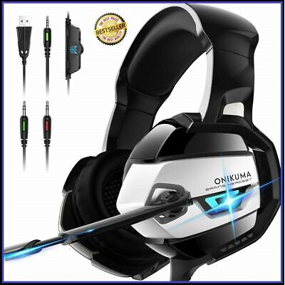 ONIKUMA Gaming Headset K5 - Xbox One Headset PS4 Headset...