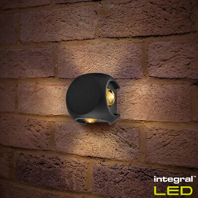 Integral Crosscube 4-Way Outdoor Wall Light Pack of 2