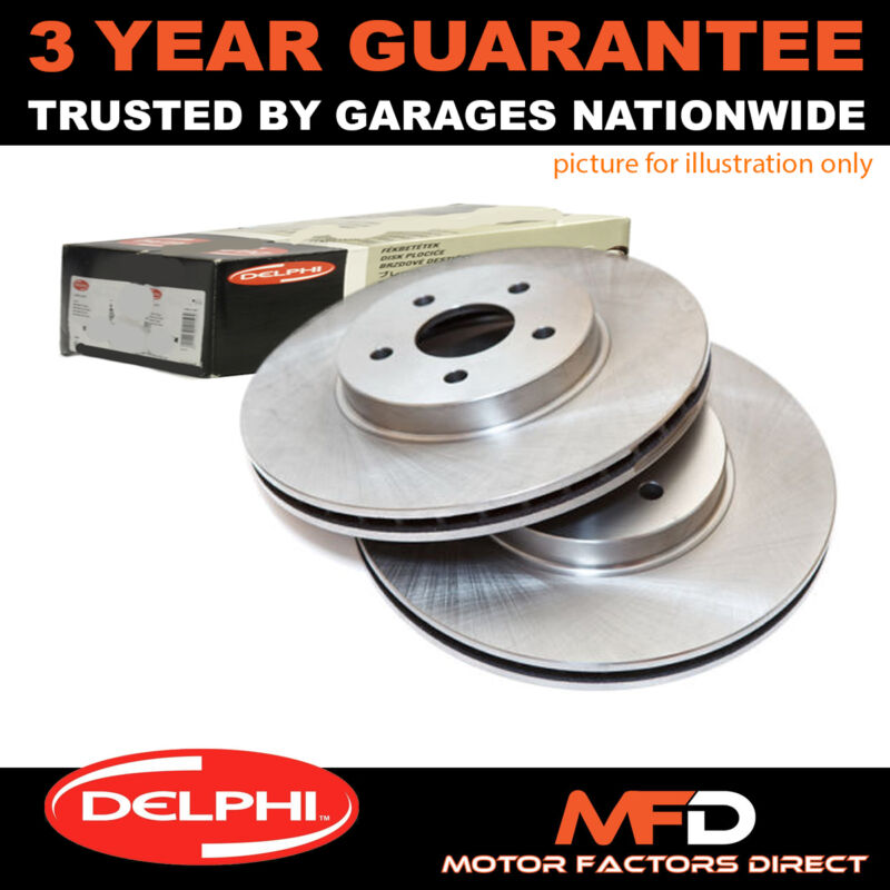 FOR LEXUS GS 300 430 450H (2005-2011) PAIR OF FRONT DELPHI BRAKE DISCS CHOICE 2