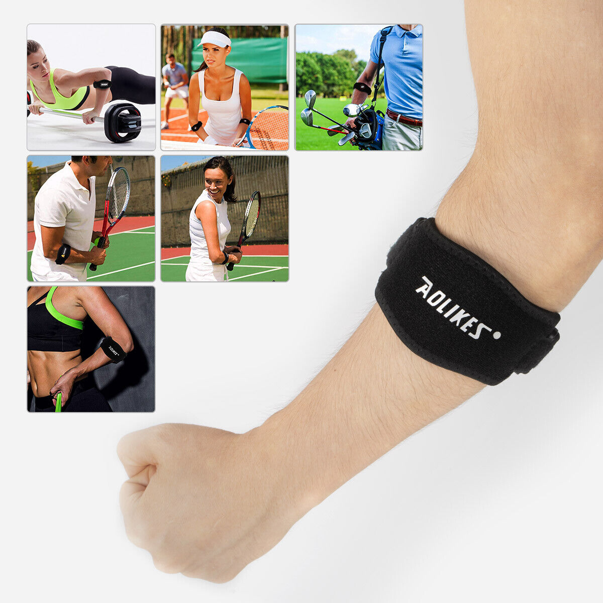 Tennis Elbow Brace 2 Pack Best Elbow Support Strap For Tennis Golfers Elbow - $7.99