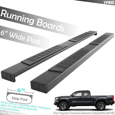 """For 2005-2019 Toyota Tacoma Access Cab Black 6"""" OE Running Boards Side Step Bars"""