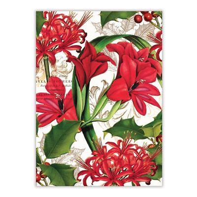 Michel Design Works Cotton Kitchen Tea Towel Christmas Time Amaryllis - NEW