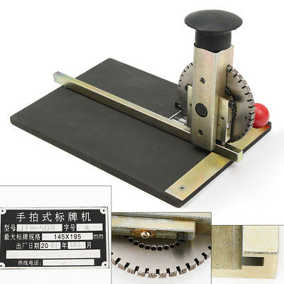 Manual Metal Embosser Deboss Stamping Embossing Machine Plate Dog Tag Printer