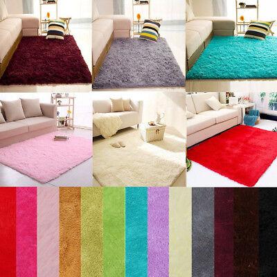 Fluffy Shaggy Rugs Modern Living Room Thick Soft Carpet Floor Mat Home Bedroom