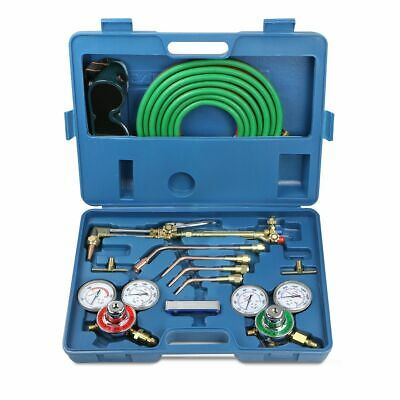 Oxygen Acetylene Cutting Torch Burner W 15 Twin Hose Welding Kit Victor Type